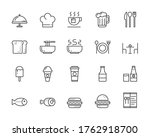 food icons . pixel perfect...   Shutterstock .eps vector #1762918700