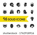 avatar icons set with clown ...