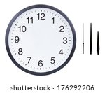 blank clock face with hour ... | Shutterstock . vector #176292206