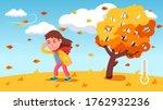 girl kid struggle walking... | Shutterstock .eps vector #1762932236