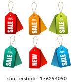 set of colorrful sale tags.... | Shutterstock .eps vector #176294090