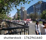 Small photo of parade of chilean to insist their rights at santigo center, 23 of october, 2019, santiago, chile