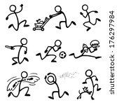 stickfigure sprinting
