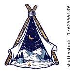 mountain and tent vector...   Shutterstock .eps vector #1762996139
