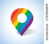 pin icon vector. rainbow colour.... | Shutterstock .eps vector #1763006849