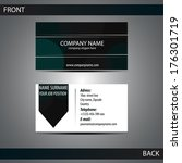stylish dark business card... | Shutterstock .eps vector #176301719