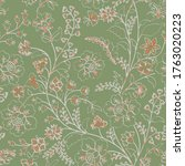 indian floral paisley pattern...   Shutterstock .eps vector #1763020223
