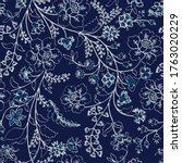 indian floral paisley pattern... | Shutterstock .eps vector #1763020229