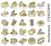 Pasta Icon Set. Outline Set Of...