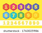 set colorful children numbers....