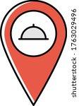 restaurant map pin location... | Shutterstock .eps vector #1763029496