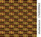 kente cloth seamless pattern  ... | Shutterstock . vector #1763039063
