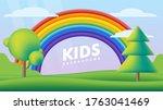 kids background vector flat... | Shutterstock .eps vector #1763041469