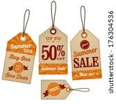 vintage retail labels | Shutterstock .eps vector #176304536