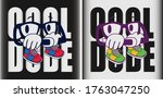 """the word """"cool dude"""" in the...   Shutterstock .eps vector #1763047250"""