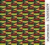kente cloth seamless pattern  ... | Shutterstock . vector #1763053079