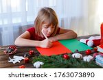 Writing Letter To Santa Claus...