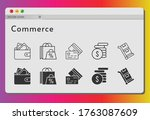 commerce icon set. included...