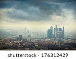 moscow city from above | Shutterstock . vector #176312429