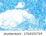 beryl halftone background. navy ... | Shutterstock .eps vector #1763151719