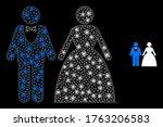 shiny web mesh groom with bride ... | Shutterstock .eps vector #1763206583