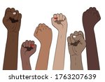 protest concept banner  raised... | Shutterstock .eps vector #1763207639