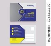 postcard design postcard...   Shutterstock .eps vector #1763211170
