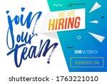 join our team  hiring banner... | Shutterstock .eps vector #1763221010