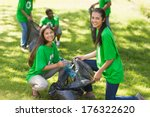 team of young volunteers... | Shutterstock . vector #176322620