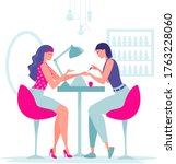 beauty saloon. girl makes a... | Shutterstock .eps vector #1763228060