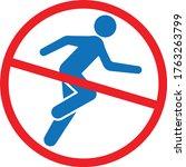 do not run icon vector... | Shutterstock .eps vector #1763263799