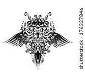 abstract owl retro vector... | Shutterstock .eps vector #176327846