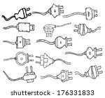 plug in set   doodle | Shutterstock . vector #176331833