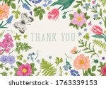 thank you card with butterfly ... | Shutterstock .eps vector #1763339153