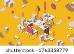 isometric full color outline...   Shutterstock .eps vector #1763358779