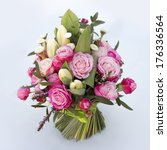 bouquet of roses isolated on... | Shutterstock . vector #176336564