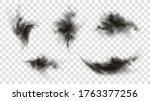 black smoke or fog isolated on... | Shutterstock .eps vector #1763377256