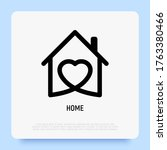 house with heart. logo for real ... | Shutterstock .eps vector #1763380466
