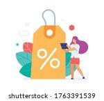 discount benefit. flat...   Shutterstock .eps vector #1763391539