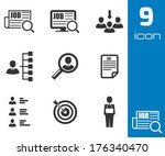 vector black job search icons... | Shutterstock .eps vector #176340470