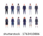 group of students from high and ...   Shutterstock .eps vector #1763410886