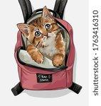 Cute Cat Pink Backpack...