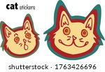 Set Of 2 Funny Cat Stickers...