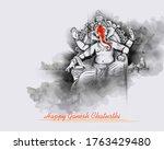 illustration of lord ganpati... | Shutterstock .eps vector #1763429480