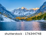 maroon bells at sunrise  aspen  ... | Shutterstock . vector #176344748