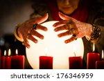 female fortuneteller or... | Shutterstock . vector #176346959