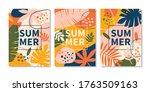 modern abstract summer design... | Shutterstock .eps vector #1763509163