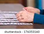 close up of female hands... | Shutterstock . vector #176353160