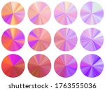 holographic concentric metallic ... | Shutterstock .eps vector #1763555036
