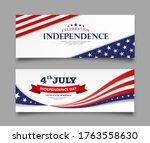 celebration flag of america... | Shutterstock .eps vector #1763558630